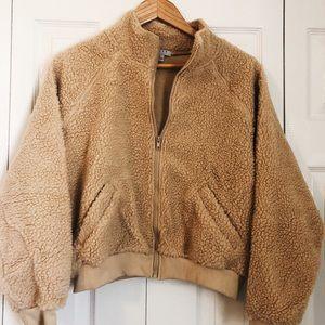 Clad & Cloth Sherpa Crop Jacket